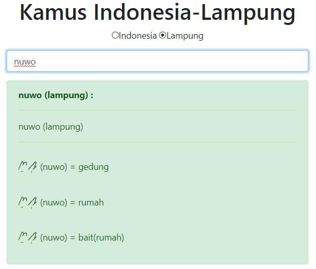 Kamus Aksara Lampung
